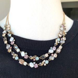 Loft Double Strand Jeweled Necklace